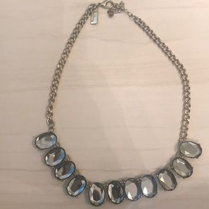 Necklace with blue rhinestones